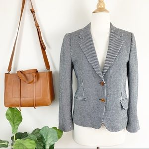 Anthropologie stripe blazer